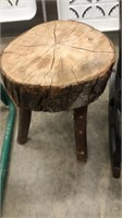 Small Rocking Chair & Wooden Stool