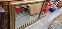 Card Table, 2 Mirrors & Dresser