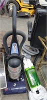 3 Sweepers, Plant Stand & 2 Glass Patio Stands