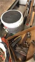 Fishing Poles, Minnow Bucket & Misc Tackle