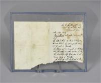 EPHEMERA - DUKE OF WELLINGTON LETTER, DATED 1815