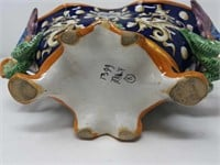 Ceramic hand painted Italian bowl with dragon