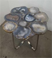 Geode lamp table / natural stone