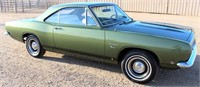 1968 Plymouth Barracuda, 2-dr, slant 6-cyl Super 225 eng, 3-spd trans on the column, 89,400 mi, has title & appraisal cert (view 1)
