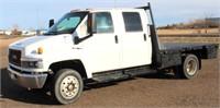 2004 GMC C5500, w/10' flatbed, 6.6L Duramax diesel eng, Allison 5-spd auto trans, single-axle, 287,625 mi, air ride seats, AC, cruise, exhaust brake, elec windows/doors & mirrors, rec hitch, runs/drives, well, ready to go to work (view 1)