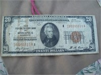1929 Minneapolis $20 National Currency