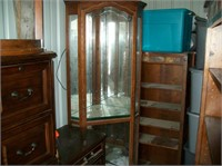 lighted curio cabinet  with key