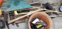 Lawn Tools, 2 Scythe, Pots & Weedeater