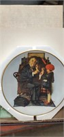 Norman Rockwell Mother Day Plate 1st Doctor  &