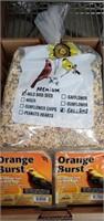 2 Gallons Premium Bird Seeds & 2 Blocks Orange