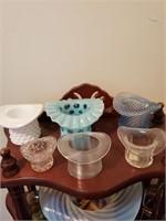 Knick Knack Stand W/ Glass Hats