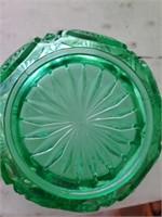 6 Green Opal Glass Bowls