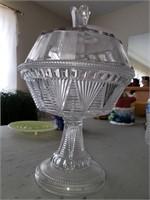 Glass Compot Dish
