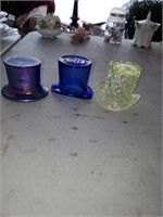 3 Glass Hats, Piqua, Oh & Imperial