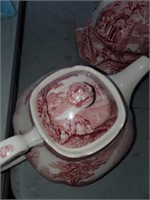 Tea Pot, Creamer, Sugar & Plate England