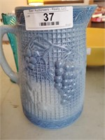 Crock Pitcher, Shirley Temple Creamer & 2 Vases