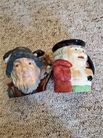 2 Toby Mugs Royal Doulton ( Rip Van Winkle, Englis