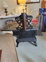 Cast Iron Wood Stove W/ Accessories