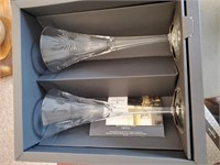 Waterford Toasting Flutes W/ Paper & Box