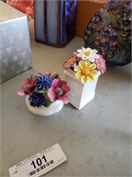 Staffordshire & Royal Albert Porcelain Flowers