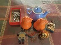 Box Lot Of Misc Glassware - Figurines