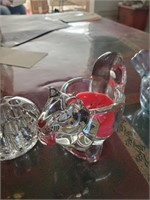 Glass Animal Candle Holders