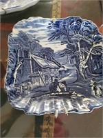 3 Blue Decorative Plates