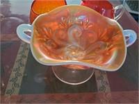 Orange Cream & Sugar Crackle Dishes - Candy Dish