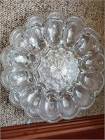 Pressed Glass - Egg Plates - Divider Dishes