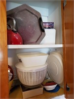 Contents Of Cabinet ( Left Of Stove, Right Cabinet