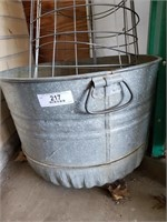 Tomato Cages - Galvanized Tub