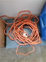 Wooden Bench - Cooler - Electric Cord - Misc