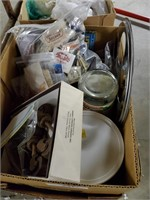 2 Boxes Of Matchbooks, Casters & Light Shades