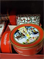 Christmas Bows, Tins, Lights & Candle Decorations
