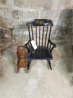 Small Black Rocking Chair