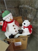 Battery Operated Christmas Animals / Snowmen
