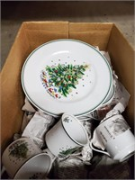 Christmas Dishes - Plates - Saucers - Cups