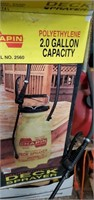 4 Patio Chairs, Gas Cans, Sprayer,  Planters &