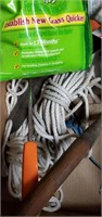 2 Boxes Of Clothing  Line, Trimmer Drill Bits &