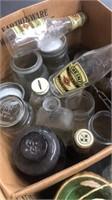 Vintage Bottles And Roller Skate Bottoms