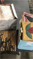 Lot Of Misc Linens And Throw Pillows