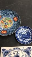 Box Lot Of Miscellaneous Blue Glassware