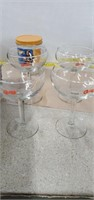 3 Boxes Of Glass Cake Dish, Chi- Chi's Glasses,