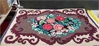 """Hand Hook Rug  Approx 37"""" Long X 25"""" Wide"""
