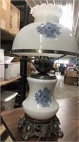 Milk Glass Lamp - Miscellaneous Silver