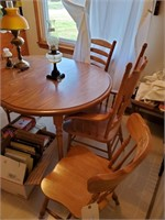 Kitchen Table & 4 Misc Chairs
