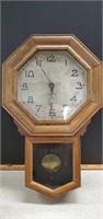 Antique Wall Clock New Haven ( Has Key)