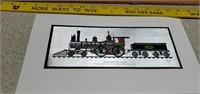 Color Etch Prints, Historic Locomotive