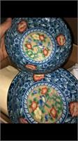 Box Lot Of Misc Glassware - Box Of Blue Porcelain