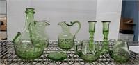 Green Hand Blown Glass